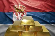 Serbian gold reserves Stock Photos
