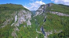 Aerial flight over Parang mountains, Romania Stock Footage