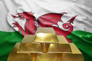 Welsh gold reserves Stock Photos
