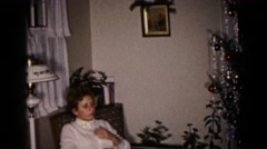 1959: patient relaxing under christmas tree HAGERSTOWN, MARYLAND Stock Footage