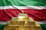 Surinamese gold reserves Stock Photos