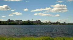 Fredericton, New Brunswick City Skyline. Stock Footage
