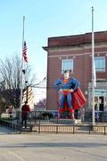 Metropolis Illinois Home of Superman Stock Photos