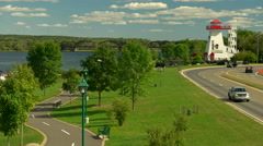 City Lighthouse in Fredericton, New Brunswick. Stock Footage