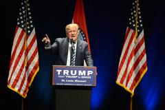 Donald Trump Campaigns in St. Louis Stock Photos