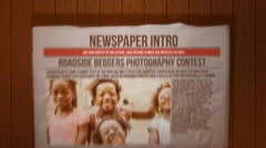 Newspaper Intro Stock After Effects
