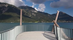 The panoramic viewing platform, Aussichtsturm Stock Footage