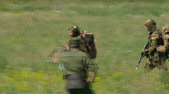 Russian armed soldiers Stock Footage