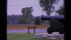 1962: a view of a military canon outdoor. CATSKILL, NEW YORK Stock Footage