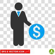 Banker Vector Icon Stock Illustration