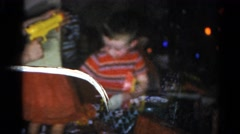 1962: a large family group gathered to distribute gifts to children CATSKILL Stock Footage