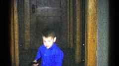 1962: children playing with toy guns CATSKILL, NEW YORK Stock Footage