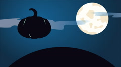 Happy Halloween Background Animation with Moon Stock Footage