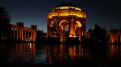 San Fransisco Palace of Fine Arts waterfront Stock Footage