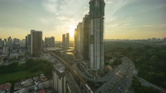 Kuala Lumpur Central Business District skyline sunset time lapse. Stock Footage