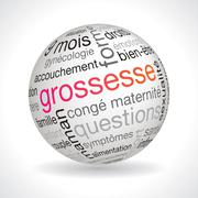 French pregnancy theme sphere Stock Illustration
