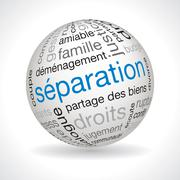 French separation theme sphere Stock Illustration