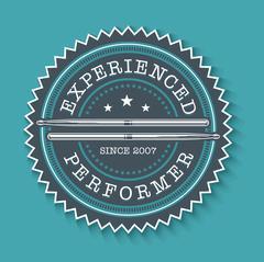 Drums Performer Badge Stock Illustration