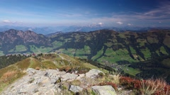 Mountain view from the top Stock Footage