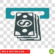 ATM Cashout Vector Icon Stock Illustration
