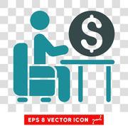 Banker Office Vector Icon Stock Illustration