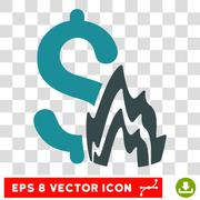 Fire Disaster Vector Icon Stock Illustration