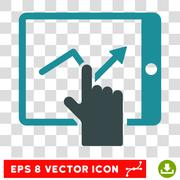 Tap Trend On PDA Vector Icon Stock Illustration