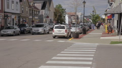 Small Downtown Street in St. Andrews, New Brunswick. Stock Footage