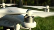 Preparing The Drone Helicopter For Takeoff in a Park. Beautiful sun day -Dan Stock Footage