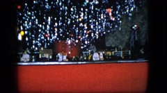 1951: a fantastic and expensive electric toy train set on movement CLEVELAND Stock Footage