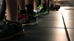 Youth Sports Closeup Shot on Feet Stock Footage