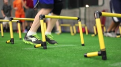 Youth Agility Ladder Drill Stock Footage