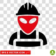 Alien Worker Eps Vector Icon Stock Illustration