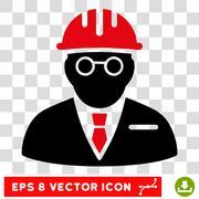 Blind Engineer Eps Vector Icon Stock Illustration