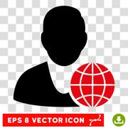 Global Manager Eps Vector Icon Stock Illustration