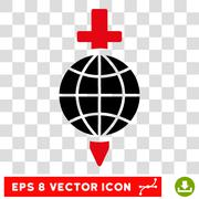 Global Safety Sword Eps Vector Icon Stock Illustration