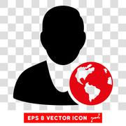 International Manager Eps Vector Icon Stock Illustration