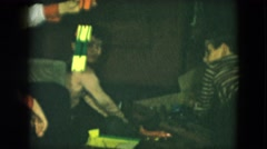 1951: several children on the floor playing with various toys or gifts Stock Footage