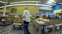 Woman shopping for fresh fruit and vegetables POV 4K Stock Footage