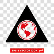 Terra Triangle Eps Vector Icon Stock Illustration