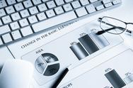 Preparing average sales report Stock Photos