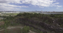 Aerial of NJ with a Cliff Stock Footage
