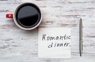 Romantic message written on napkin Stock Photos