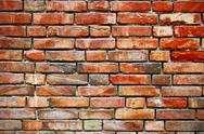 Red brick wall background weathered texture Stock Photos