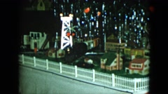 1951: an electric train set under the christmas tree CLEVELAND, OHIO Stock Footage