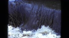 1951: a view of a waterfall splashing with white water and foam  Stock Footage
