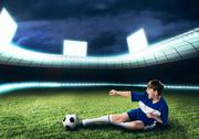 Young football champion Stock Photos