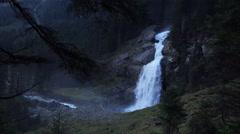 The Krimml Waterfalls in Austria Stock Footage