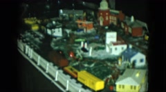 1951: plan building man made small size miniature toy train CLEVELAND, OHIO Stock Footage