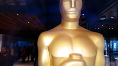 Statue Oscars Academy Awards 4K Stock Footage